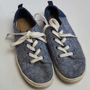 Tom's toddler blue sneakers size 13